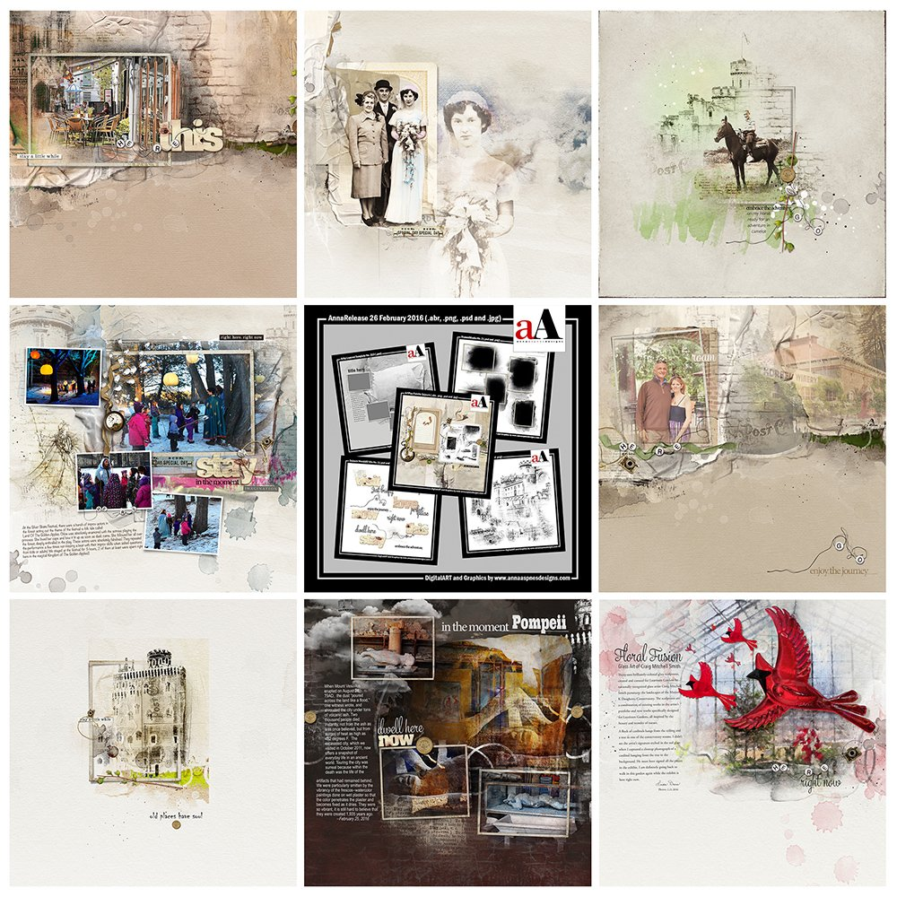 Digital Scrapbooking Inspiration Artsy Digital Designs Sojourn