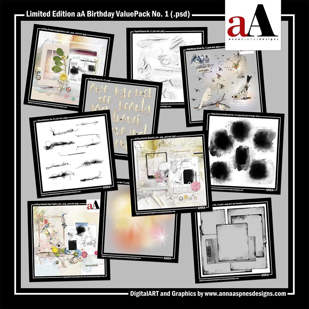 Artsy Digital Scrapbooking aA Birthday Sale