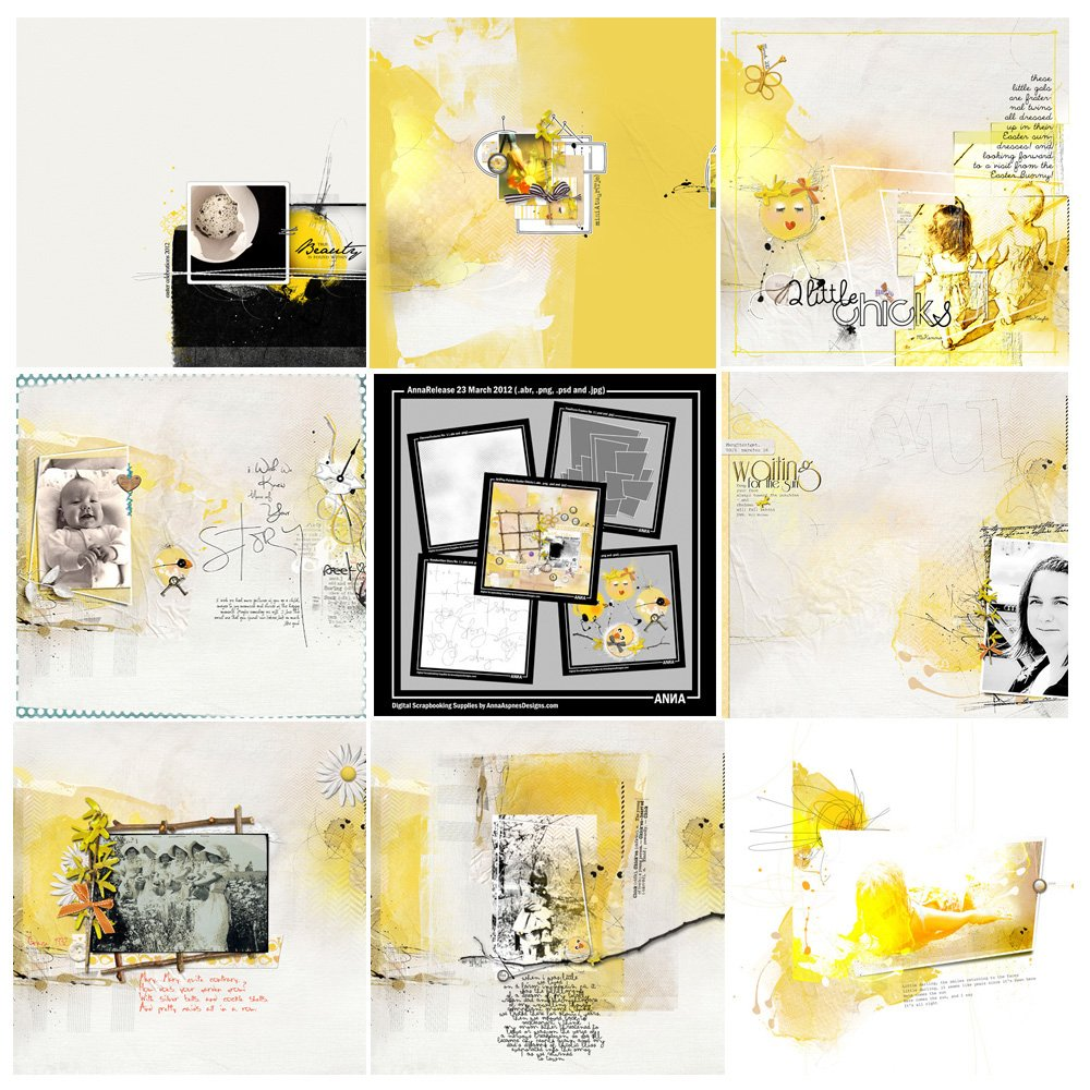 Easter Chicks Artsy Digital Designs Sale