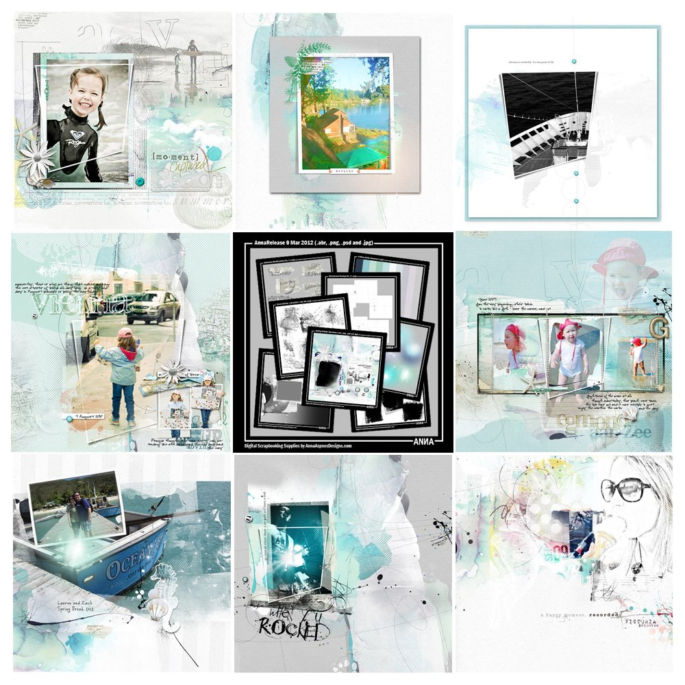 Adventure Artsy Digital Scrapbooking Designs Sale Anna Aspnes Designs
