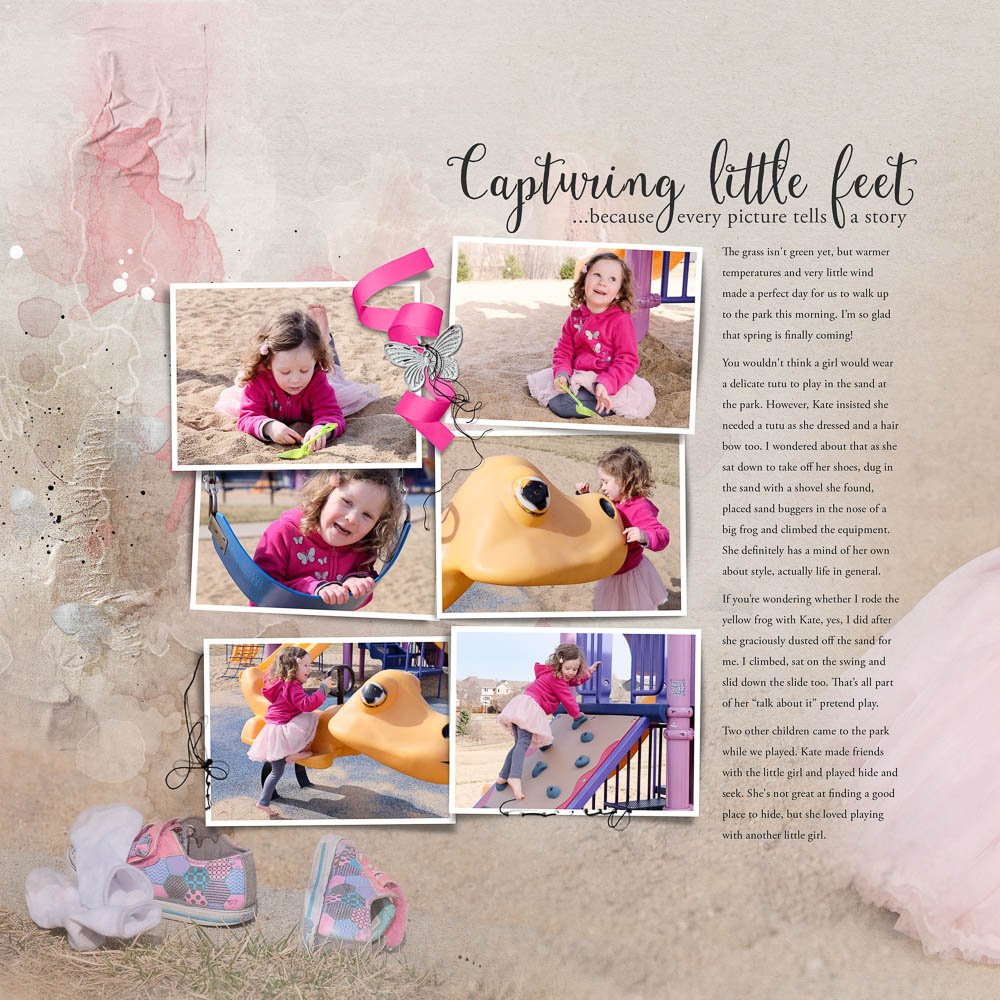 Digital Inspiration for Spring Template Album No. 2