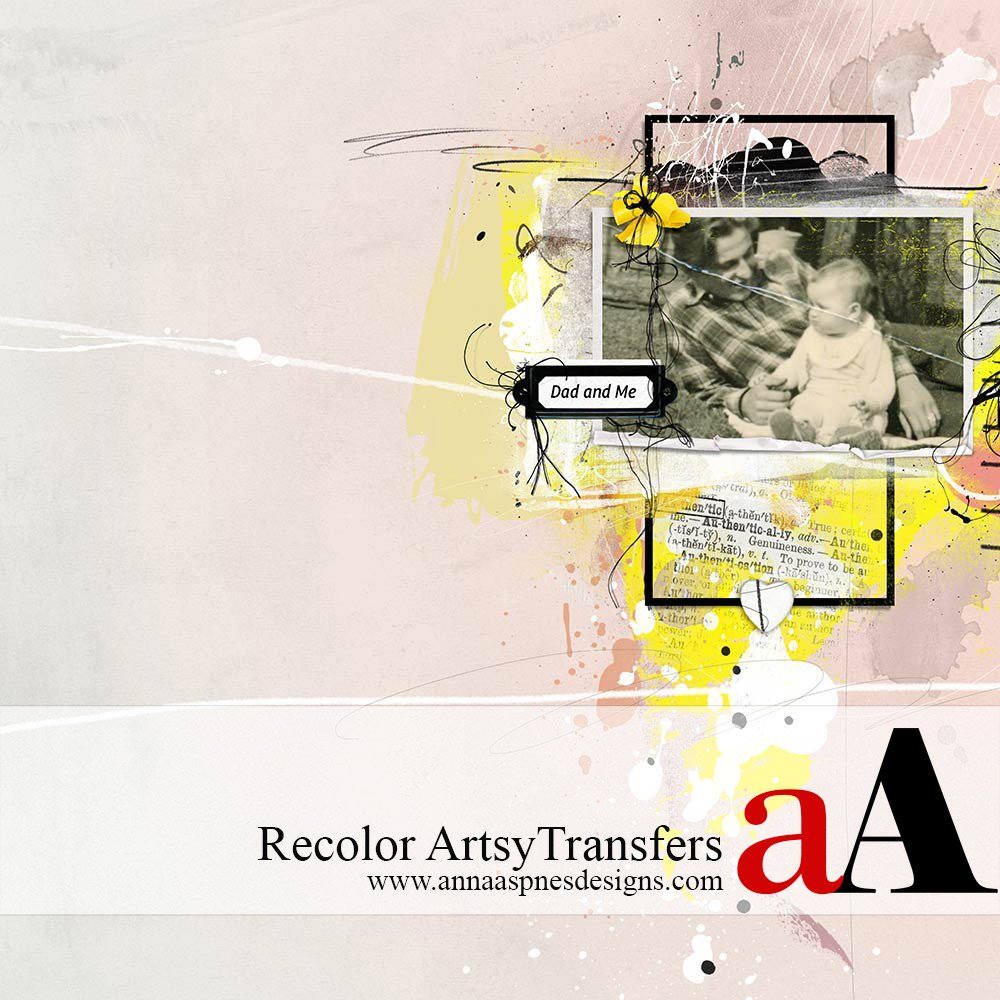 Recolor ArtsyTransfers in Adobe Photoshop Tutorial Anna Aspnes Designs