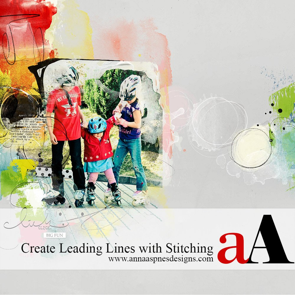 Leading Lines with Digital Stitching