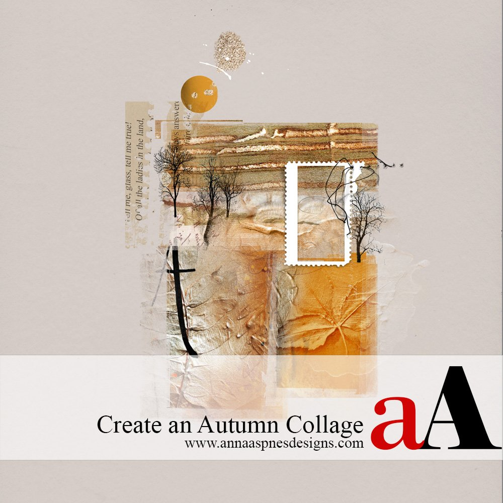 Autumn Clipping Mask Collage Tutorial