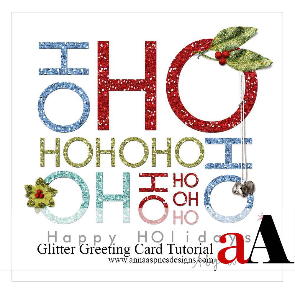 Holiday Glitter Greeting Card Tutorial
