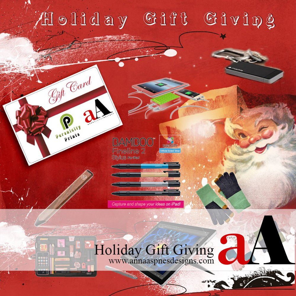 Holiday Gifts for Artsy Digital Scrapbooking