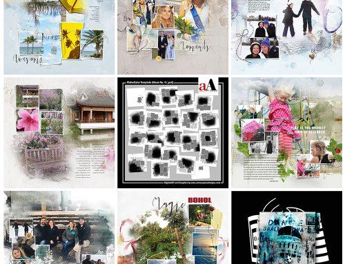 Digital Designs Inspiration WaterColor Template Album No. 4