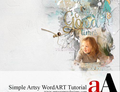 Simple Artsy WordART Tutorial