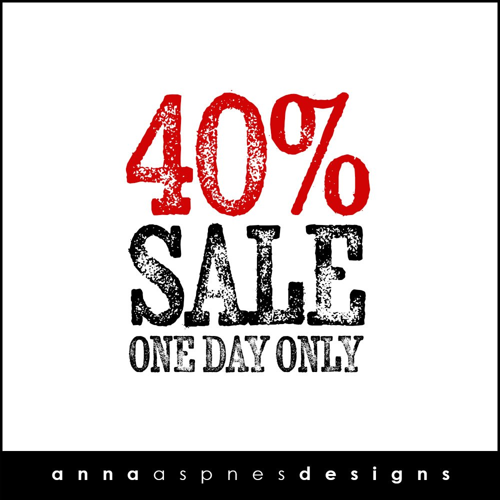 New aA Designs Website + One Day 40% Sale