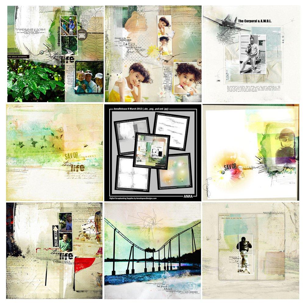 Savor Artsy Digital Scrapbooking Designs Sale