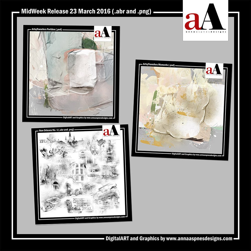 ArtsyTransfers plus New Orleans Brushes