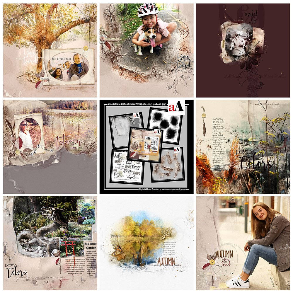 Digital Designs Inspiration Autumn Romance