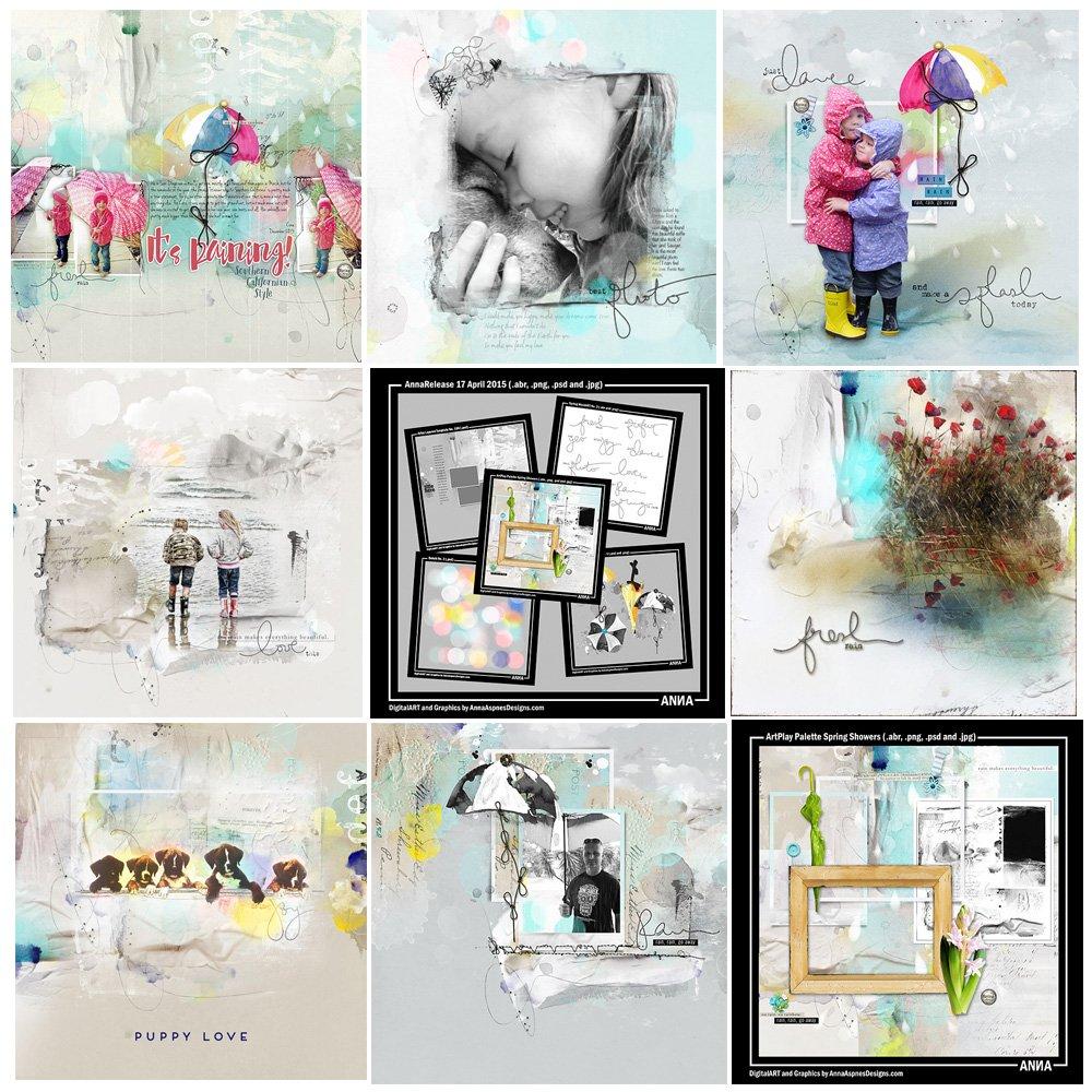 Spring Showers Artsy Digital Designs Sale