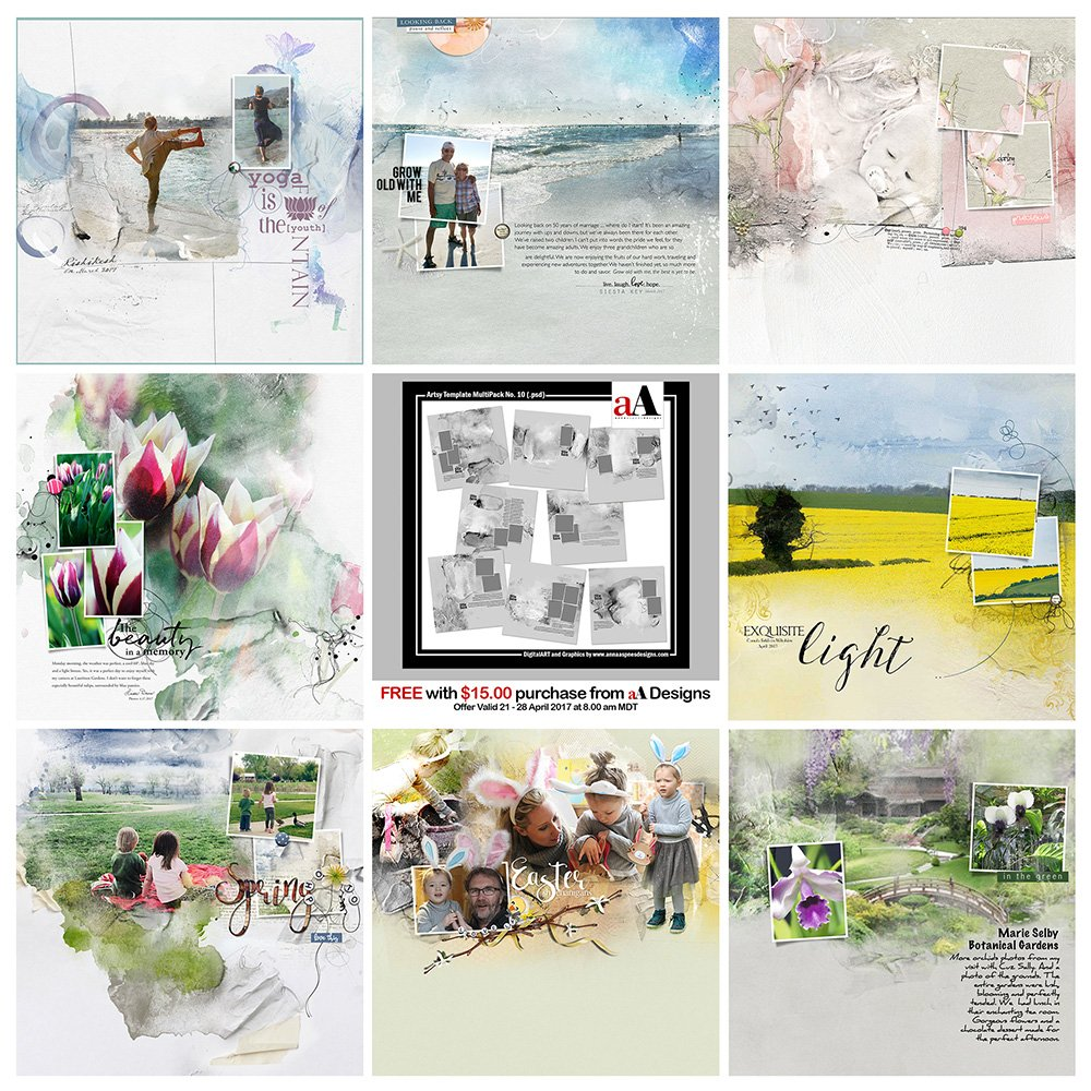 Digital Designs Inspiration Artsy Template MultiPack