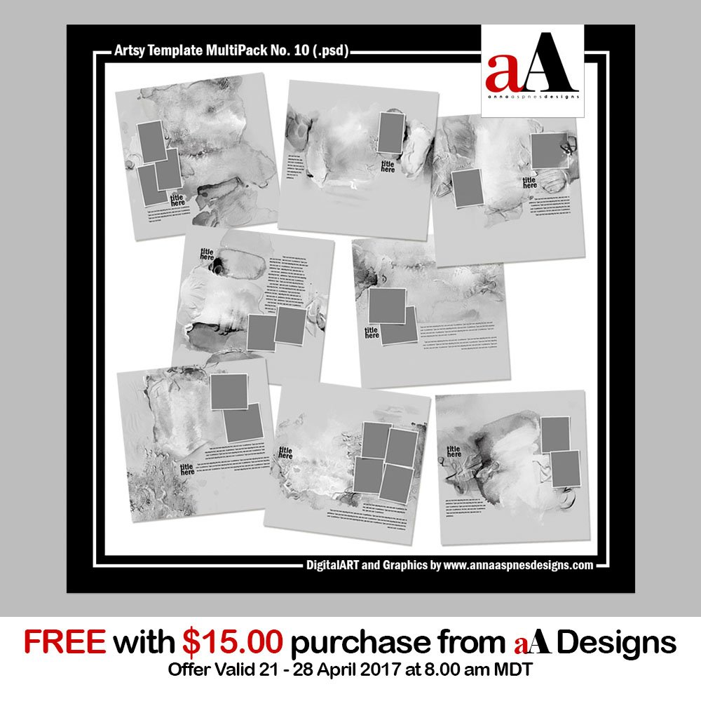 New Free with Purchase Artsy Template MultiPack
