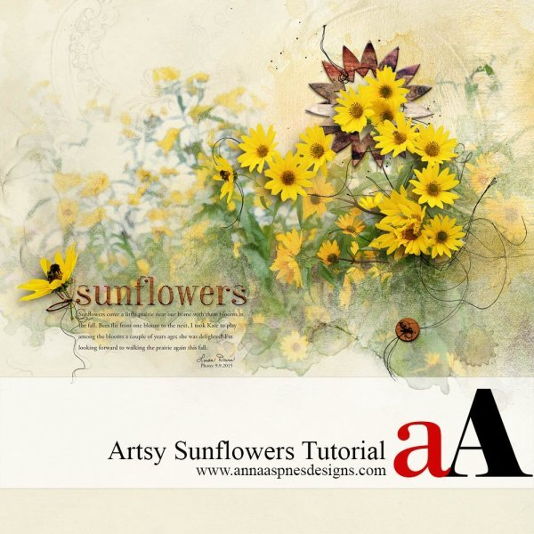 Artsy Sunflowers Tutorial