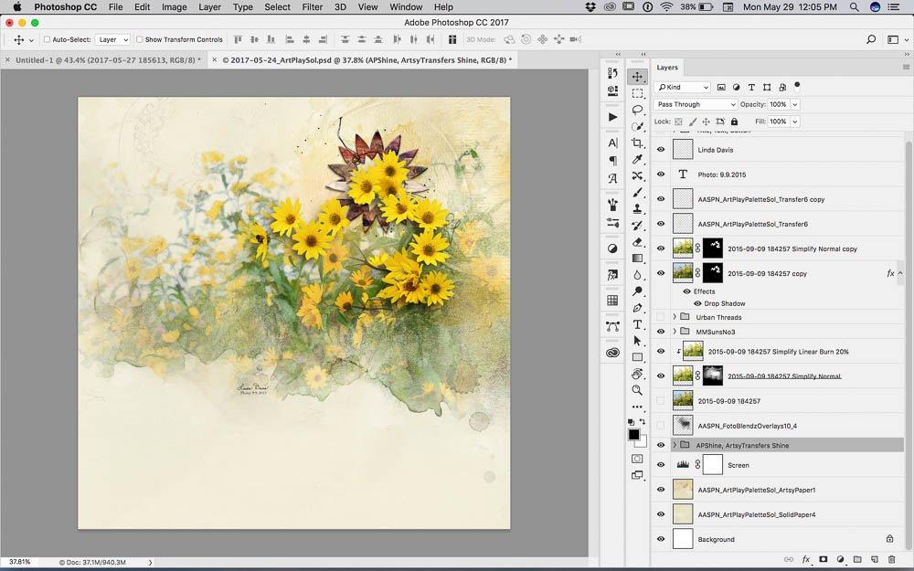 Artsy Sunflowers Tutorial