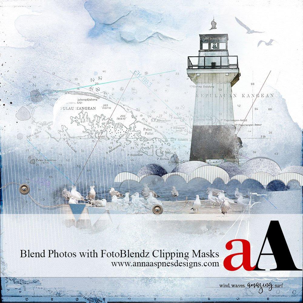 Blend Photos with FotoBlendz Clipping Masks