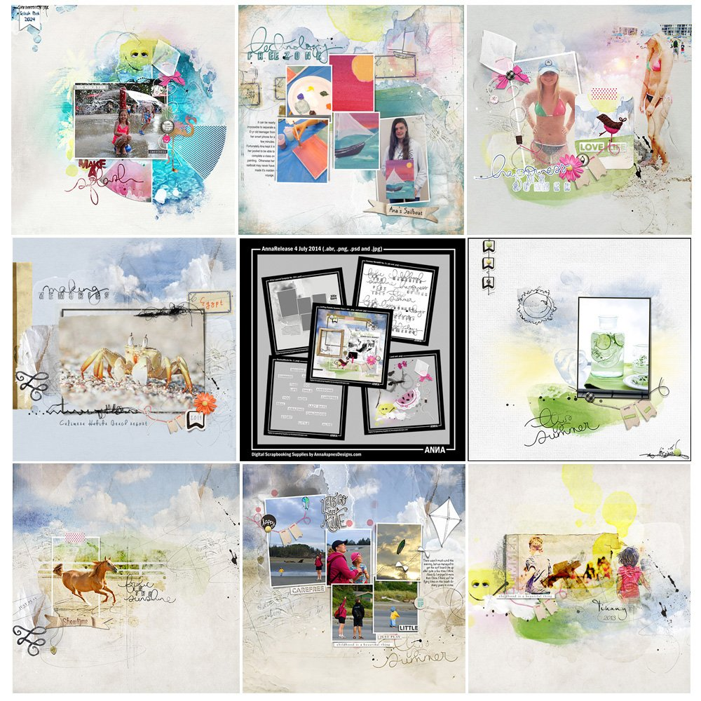 Summer Days Artsy Digital Designs Sale