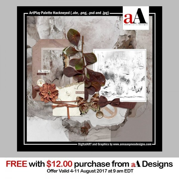 New Free with Purchase ArtPlay Palette Hackneyed