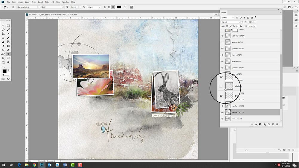 Artsy Template Masking with Transfers Video
