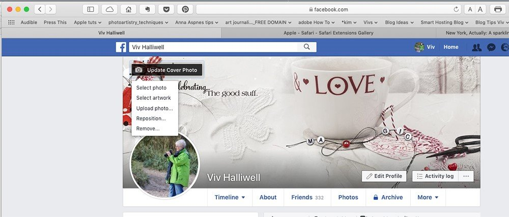 Create an Artsy Facebook Cover