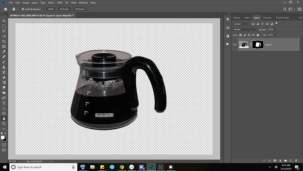 Upside Down Extraction and Compositing Technique