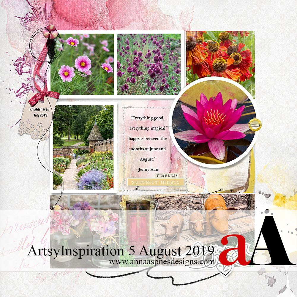 ArtsyInspiration 5 August 2019