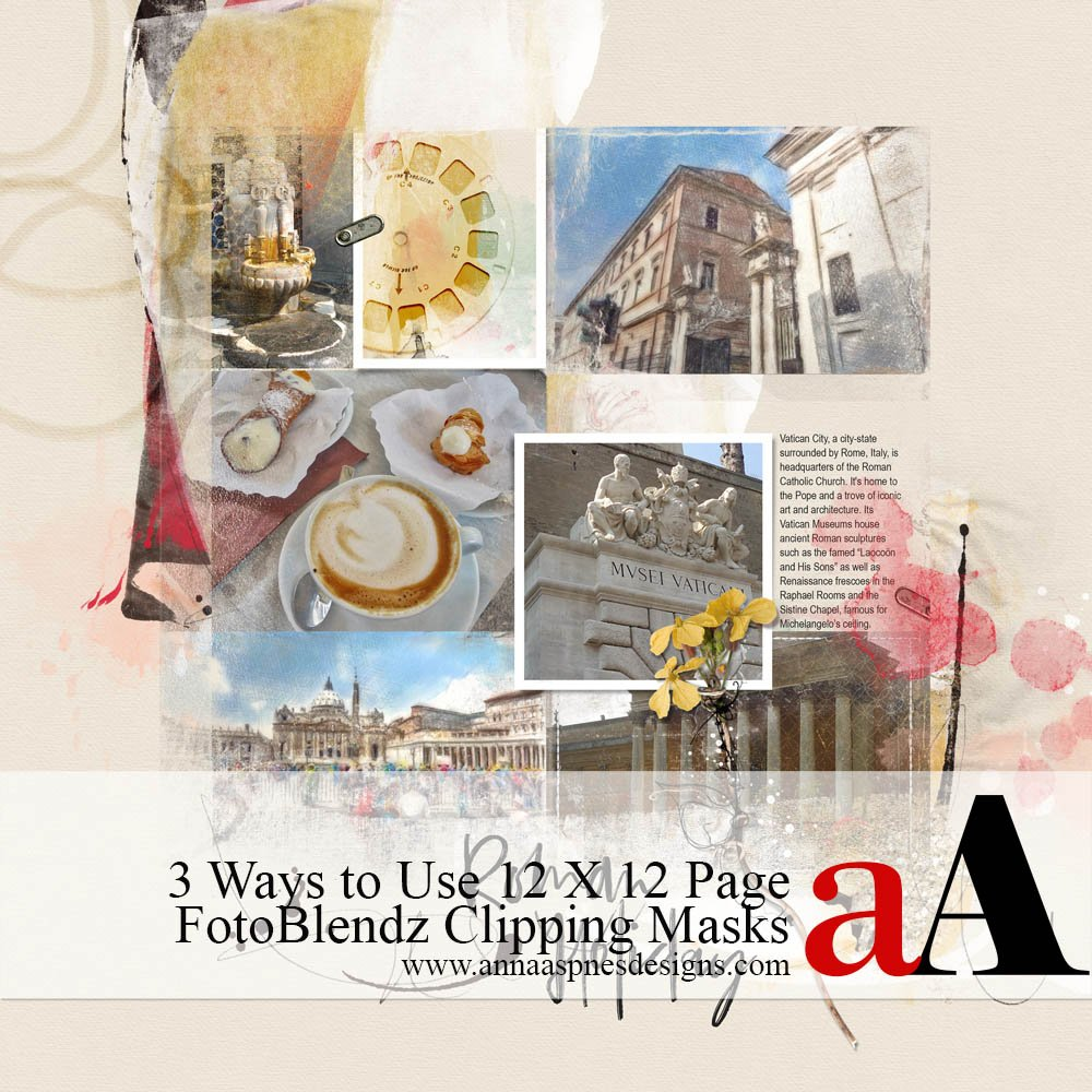 3 Ways to Use 12 x 12 Page FotoBlendz