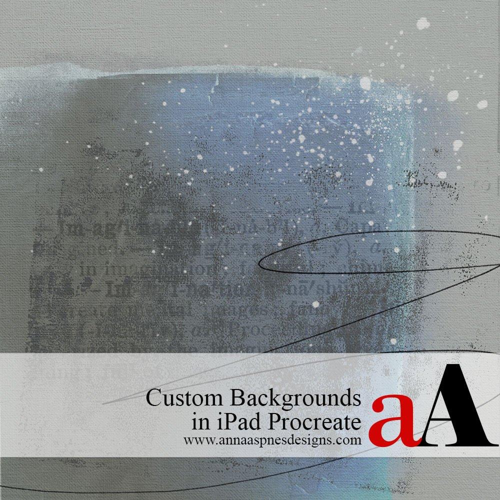 Custom Backgrounds in iPad Procreate
