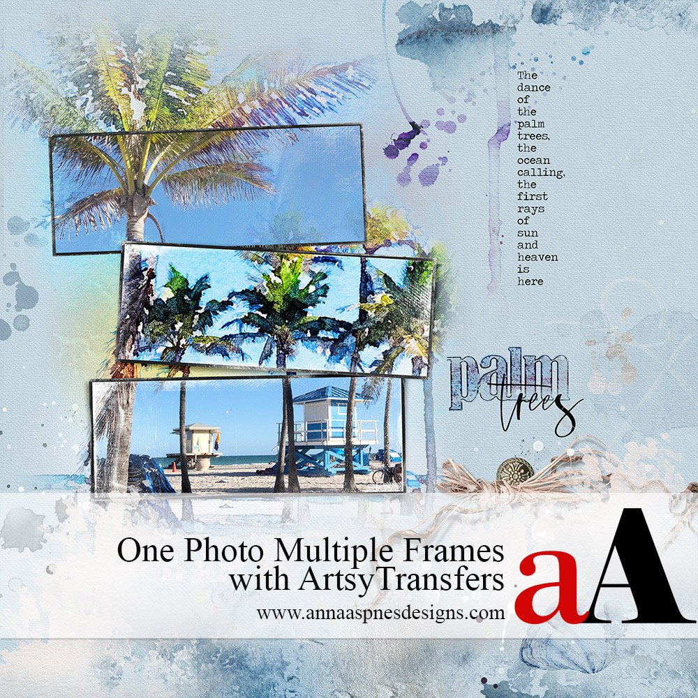 One Photo Multiple Frames with ArtsyTransfers