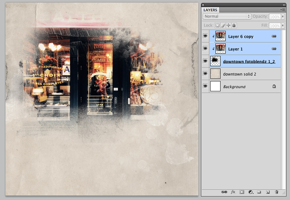 Extractions and Color Balance in Digital Scrapbooking Image 2
