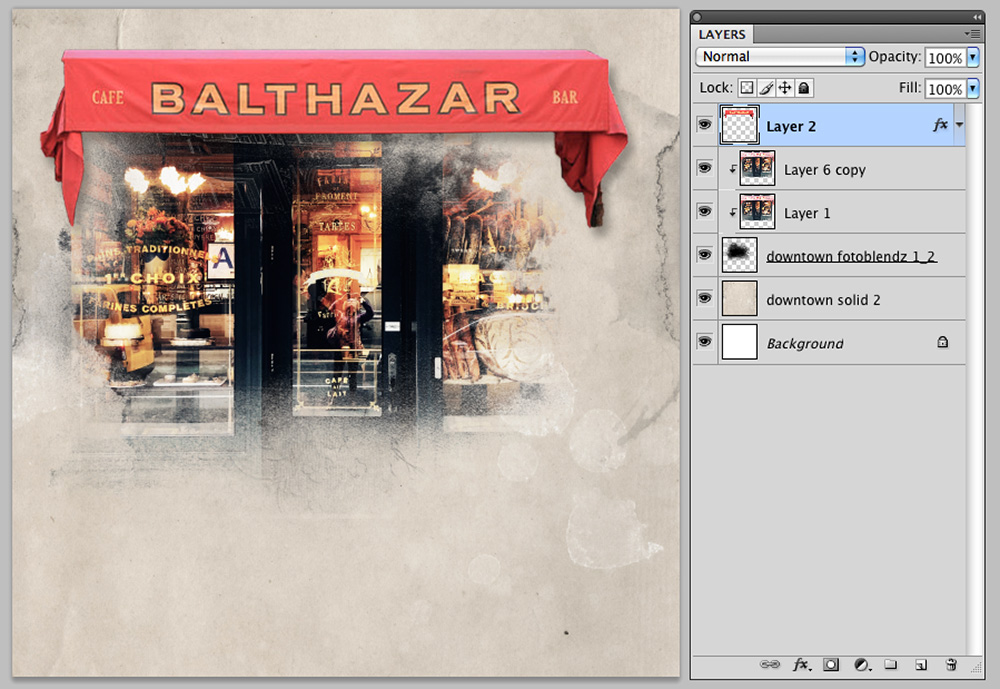 Extractions and Color Balance in Digital Scrapbooking Image 4