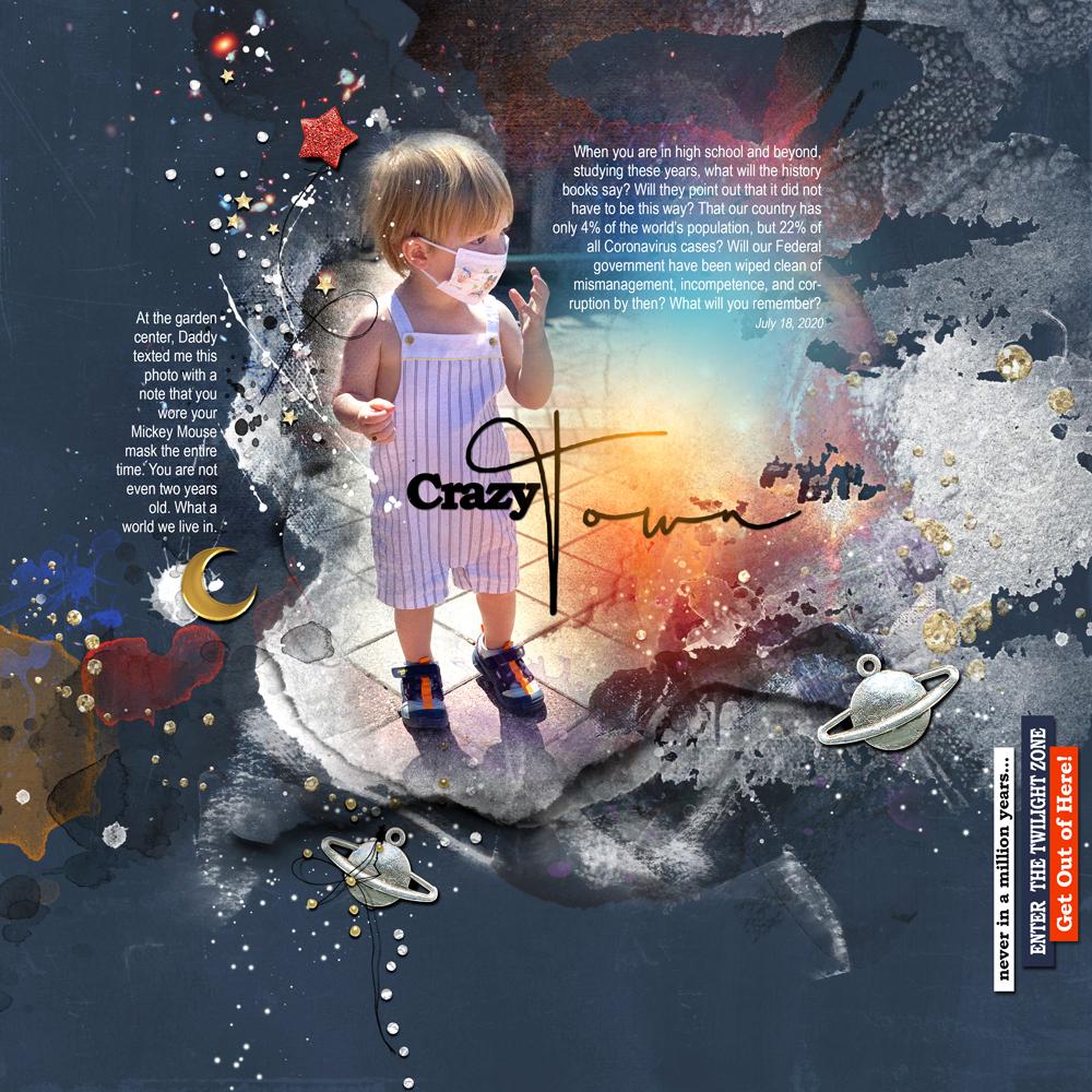 ArtPlay Twilight Zone Inspiration Digital Scrapbooking/Photo Artistry Layout by Laura Tringali Holmes