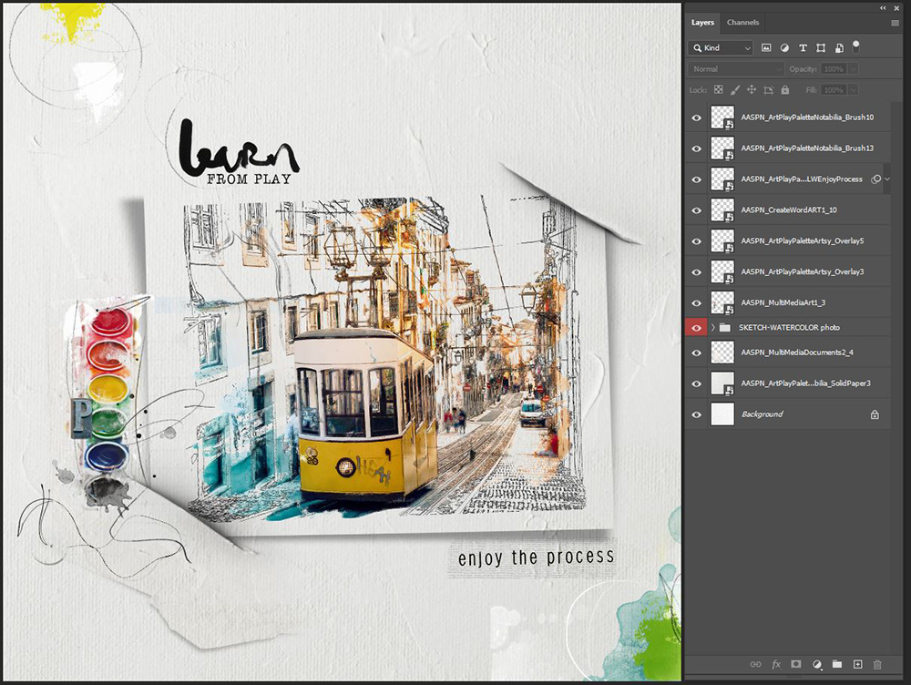 Smart Blur Your WaterColor Photo Edits